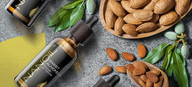 sweet almond oil nanoil hair care